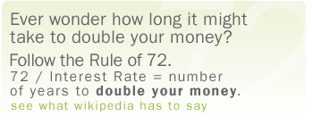 How long will it take you to double your money? Follow the Rule of 72.